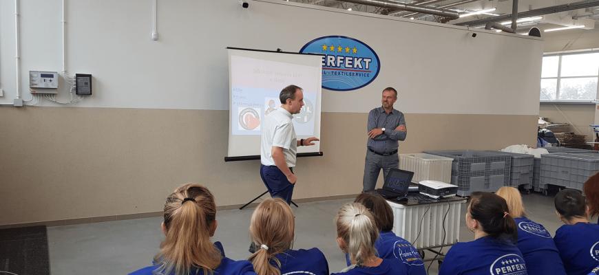 Szkolenie zespołu Perfekt Pralni z zakresu bezpieczeństwa i higieny pracy